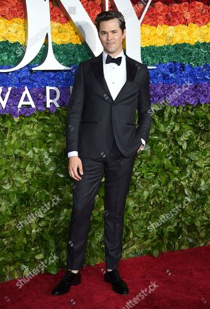 Andrew Rannells arrives at the 73rd annual Tony Awards at Radio City Music Hall, in New York