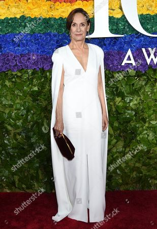 Stock Image of Laurie Metcalf arrives at the 73rd annual Tony Awards at Radio City Music Hall, in New York
