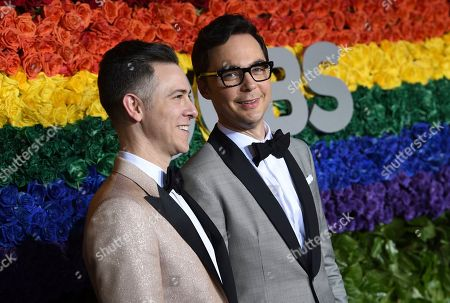 Todd Spiewak, Jim Parsons. Todd Spiewak, left, and Jim Parsons arrive at the 73rd annual Tony Awards at Radio City Music Hall, in New York
