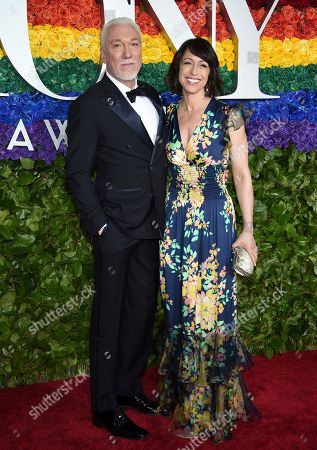 Patrick Page, Paige Davis. Patrick Page, left, and Paige Davis arrive at the 73rd annual Tony Awards at Radio City Music Hall, in New York