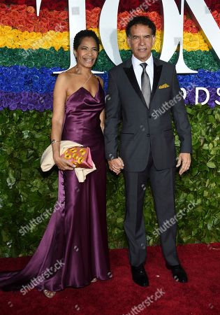 Allyson Tucker, Brian Stokes Mitchell. Allyson Tucker, left, and Brian Stokes Mitchell arrive at the 73rd annual Tony Awards at Radio City Music Hall, in New York