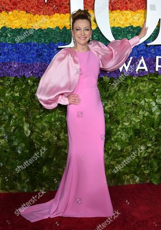Julie White arrives at the 73rd annual Tony Awards at Radio City Music Hall, in New York