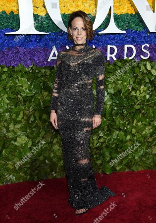 Stock Picture of Leslie Kritzer arrives at the 73rd annual Tony Awards at Radio City Music Hall, in New York