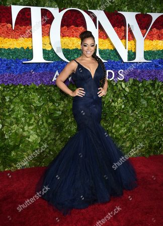 Lilli Cooper arrives at the 73rd annual Tony Awards at Radio City Music Hall, in New York