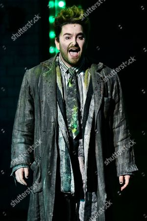 """Alex Brightman, and the cast of """"Beetlejuice,"""" perform at the 73rd annual Tony Awards at Radio City Music Hall, in New York"""