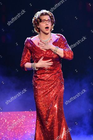 Santino Fontana, of the cast of Tootsie, performs at the 73rd annual Tony Awards at Radio City Music Hall, in New York