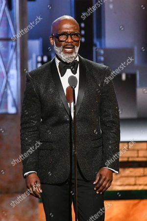 "BeBe Winans introduces a performance by the cast of ""Choir Boy"" at the 73rd annual Tony Awards at Radio City Music Hall, in New York"