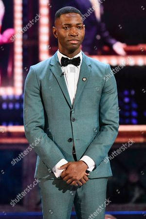 Tarell Alvin McCraney appears on stage at the 73rd annual Tony Awards at Radio City Music Hall, in New York