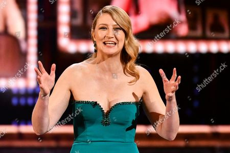 Stock Photo of Heidi Schreck speaks at the 73rd annual Tony Awards at Radio City Music Hall, in New York