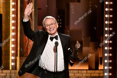 """Bob Mackie accepts the award for best costume design of a musical for """"The Cher Show"""" at the 73rd annual Tony Awards at Radio City Music Hall, in New York"""