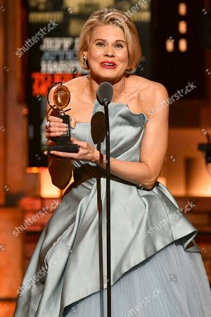 """Celia Keenan-Bolger accepts the award for best performance by an actress in a featured role in a play for """"To Kill a Mockingbird"""" at the 73rd annual Tony Awards at Radio City Music Hall, in New York"""