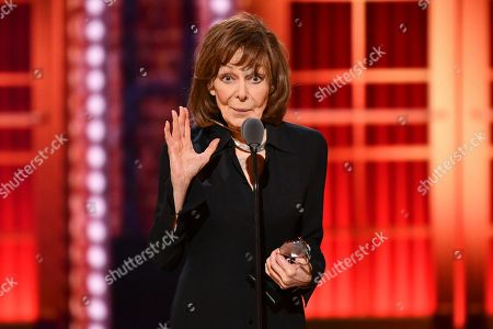 """Stock Picture of Elaine May accepts the best performance by an actress in a leading role in a play for """"The Waverly Gallery"""" at the 73rd annual Tony Awards at Radio City Music Hall, in New York"""