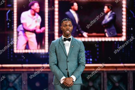 Tarell Alvin McCraney speaks at the 73rd annual Tony Awards at Radio City Music Hall, in New York