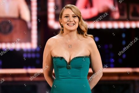 Heidi Schreck speaks at the 73rd annual Tony Awards at Radio City Music Hall, in New York