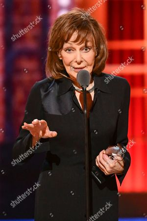 """Stock Image of Elaine May accepts the best performance by an actress in a leading role in a play for """"The Waverly Gallery"""" at the 73rd annual Tony Awards at Radio City Music Hall, in New York"""