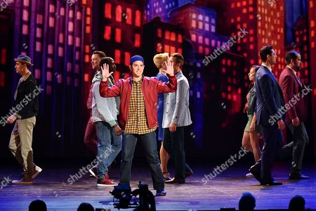 Santino Fontana, and the cast of Tootsie, perform at the 73rd annual Tony Awards at Radio City Music Hall, in New York