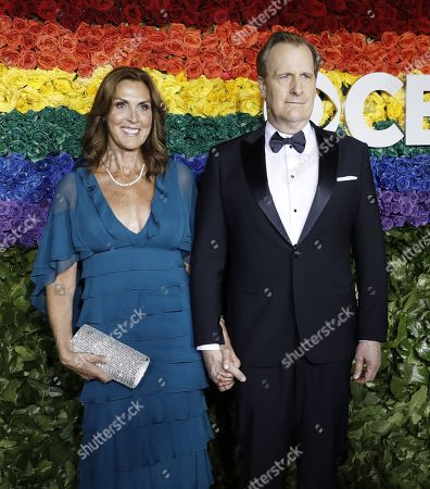 Stock Image of Kathleen Rosemary Treado and Jeff Daniels attend the 73rd Annual Tony Awards at Radio City Music Halll in New York, New York, USA, 09 June 2019. The annual awards honor excellence in Broadway theatre.
