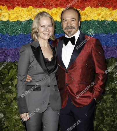 Rebecca Luker and Danny Burstein attend the 73rd Annual Tony Awards at Radio City Music Halll in New York, New York, USA, 09 June 2019. The annual awards honor excellence in Broadway theatre.