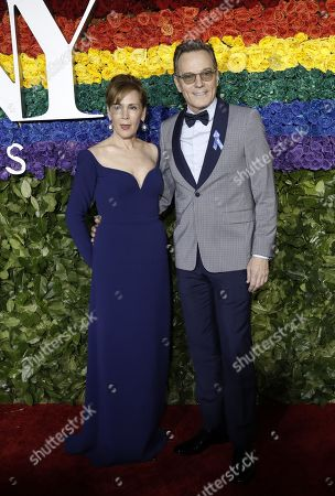 Robin Dearden (L) and Bryan Cranston attends the 73rd Annual Tony Awards at Radio City Music Halll in New York, New York, USA, 09 June 2019. The annual awards honor excellence in Broadway theatre.