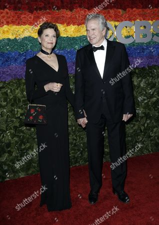 Annette Bening and Warren Beatty attend the 73rd Annual Tony Awards at Radio City Music Halll in New York, New York, USA, 09 June 2019. The annual awards honor excellence in Broadway theatre.