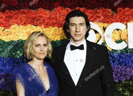 Joanne Tucker and Adam Driver attends the 73rd Annual Tony Awards at Radio City Music Halll in New York, New York, USA, 09 June 2019. The annual awards honor excellence in Broadway theatre.