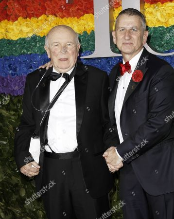 Terrence McNally (L) and Tom Kirdahy attend the 73rd Annual Tony Awards at Radio City Music Halll in New York, New York, USA, 09 June 2019. The annual awards honor excellence in Broadway theatre.