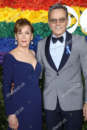 Stock Picture of Robin Dearden and Bryan Cranston
