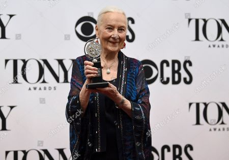 "Stock Image of Rosemary Harris poses in the press room ""Special Tony Award for Lifetime Achievement in the Theatre"" at the 73rd annual Tony Awards, in New York"
