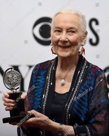 "Stock Picture of Rosemary Harris poses in the press room ""Special Tony Award for Lifetime Achievement in the Theatre"" at the 73rd annual Tony Awards, in New York"