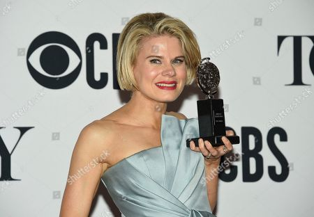"""Celia Keenan-Bolger poses with the award for best performance by an actress in a featured role in a play for """"To Kill a Mockingbird"""" in the press room at the 73rd annual Tony Awards, in New York"""