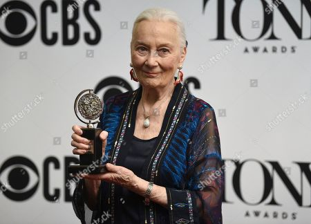 "Rosemary Harris poses in the press room ""Special Tony Award for Lifetime Achievement in the Theatre"" at the 73rd annual Tony Awards, in New York"