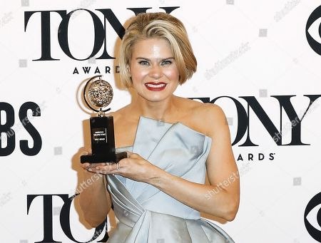 """Celia Keenan-Bolger poses with the award for best performance by an actress in a featured role in a play for """"To Kill a Mockingbird"""" in the press room during the 2019 Tony Awards at Radio City Music Hall in New York, New York, USA, 09 June 2019. The annual awards honor excellence in Broadway theatre."""