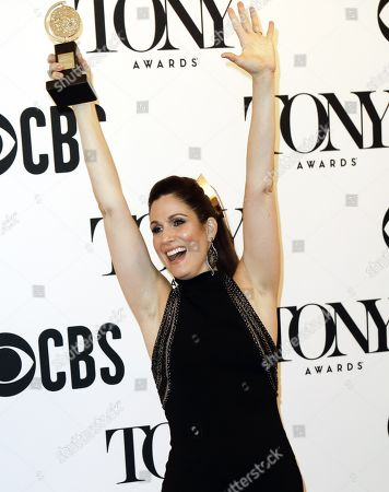 "Stephanie J. Block poses in the press room with the award for best performance by an actress in a leading role in a musical for ""The Cher Show"" at the 73rd annual Tony Awards in New York, New York, USA, 09 June 2019. The annual awards honor excellence in Broadway theatre."