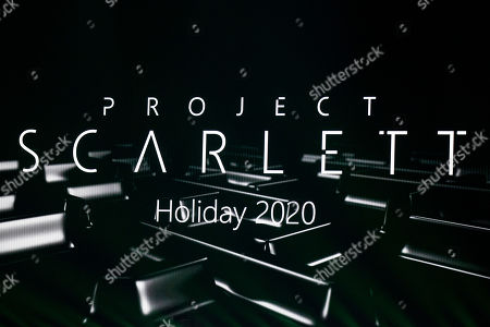 Project Scarlett, the code name for the next Microsoft gaming console, is announced for release dueing the 2020 holiday season, on screen during a presentation by executive vice-president of Gaming Phil Spencer at the Microsoft Microsoft Xbox 2019 Briefing at the Microsoft Theater in Los Angeles, California, USA, 09 June 2019. This event occured ahead of the Electronic Entertainment Expo (E3) which runs from 11 to 13 June 2019.