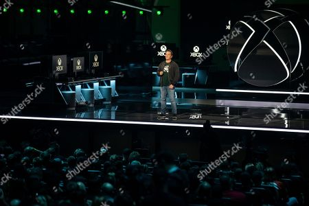 Microsoft's executive vice-president of Gaming Phil Spencer announces Project Scarlett, the next Microsoft console to be released in 2020, during a presentation during the Microsoft Microsoft Xbox 2019 Briefing at the Microsoft Theater in Los Angeles, California, USA, 09 June 2019. This event occured ahead of the Electronic Entertainment Expo (E3) which runs from 11 to 13 June 2019.