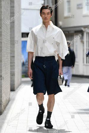 Editorial picture of Hussein Chalayan show, Runway, Spring Summer 2020, London Fashion Week Men's, UK - 09 Jun 2019