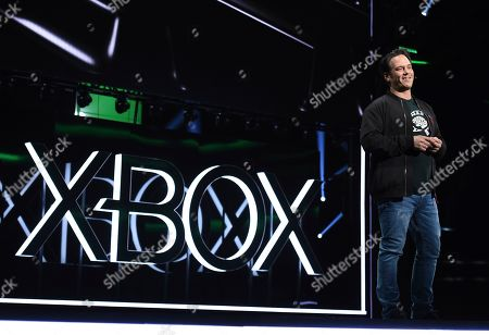 Phil Spencer, Head of Xbox, opens the Xbox E3 2019 Briefing at the Microsoft Theater at L.A. Live, in Los Angeles