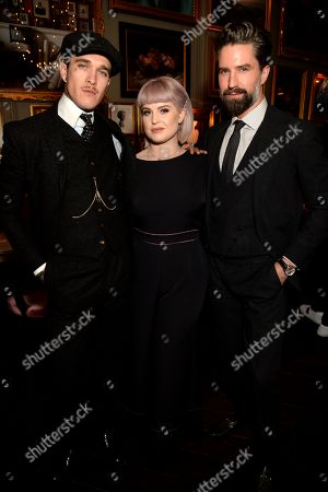 Stock Photo of Jimmy Q, Kelly Osbourne and Jack Guinness
