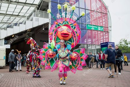 Colourful entertainment by the Shane Warne stand during South Africa vs West Indies, ICC World Cup Cricket at the Hampshire Bowl on 10th June 2019