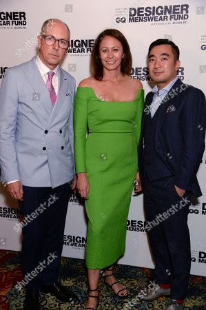 Dylan Jones, Caroline Rush and Kevin Jiang