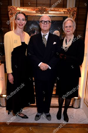 Stock Photo of Evangeline Blahnik Manolo Blahnik and Kristina Blahnik