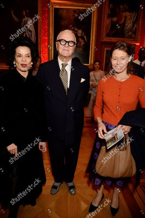 Bianca Jagger, Manolo Blahnik and Lady Sarah Chatto