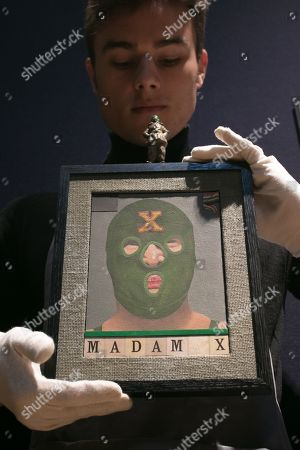 Sir Peter Blake (Born 1932) Madam X, Oil on collage on board with attached ornament, Estimate £35,000-55,000