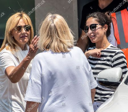 Spanish tennis player Rafael Nadal's girlfriend Maria Francisca Perello (R) and mother Ana Maria Parera (L) upon their arrival in Palma de Mallorca one day after Nadal's win in the French Open tennis tournament at Roland Garros, in Balearic Islands, Spain, 10 June 2019. Nadal has won his 12th French Open title after defeating Austrian Dominic Thiem in the men's final held on 09 June 2019.