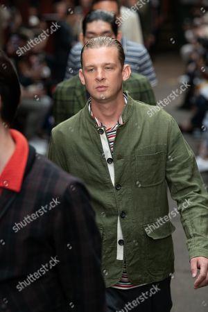 Editorial photo of Oliver Spencer show, Runway, Spring Summer 2020, London Fashion Week Men's, UK - 09 Jun 2019