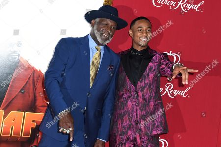 Stock Photo of Richard Roundtree and Jessie T. Usher