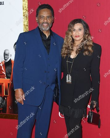 Richard Lawson and Tina Knowles