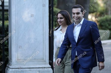 Alexis Tsipras, Karolos Papoulias. Greek Prime Minister Alexis Tsipras, right, leaves from the Presidential Palace after his meeting with Greek President Karolos Papoulias, in Athens, on . Tsipras visited Greece's president to formally call for the dissolution of parliament and early elections on July 7, following his party's heavy defeat in European elections last month