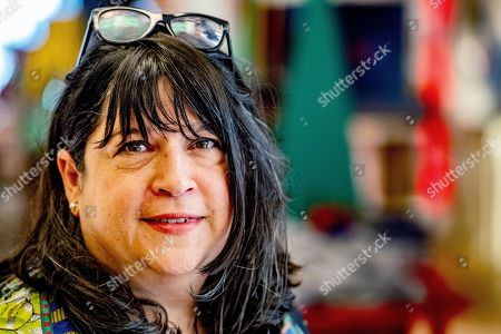 Editorial image of E.L. James book signing and interview, The Hague, Netherlands - 10 Jun 2019