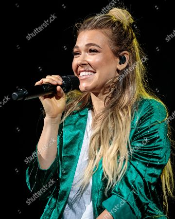 Editorial image of Rachel Platten in concert at the AT&T Center, San Antonio, USA - 23 May 2019